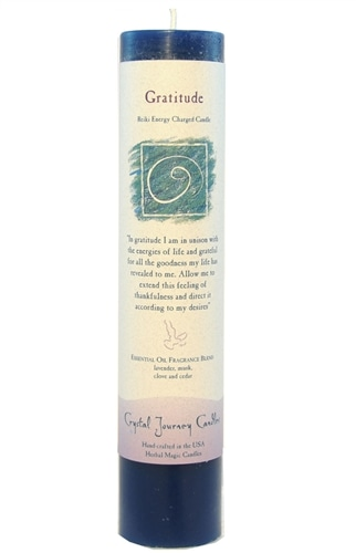 Blue Soy Gratitude Ceremonial Pillar Candle