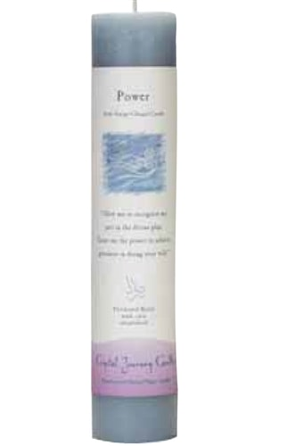 Blue Soy Power Ceremonial Pillar Candle