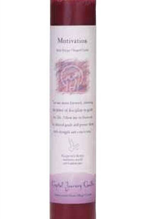 Mauve Soy Motivation Ceremonial Pillar Candle