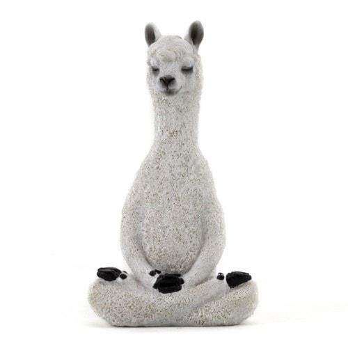 Meditating Llama Statue