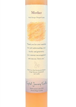 Peach Soy Mother Ceremonial Pillar Candle