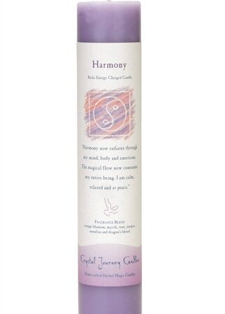 Purple Soy Harmony Ceremonial Pillar Candle