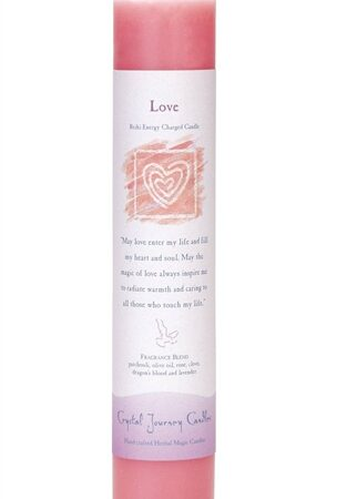 Red Soy Love Ceremonial Pillar Candle