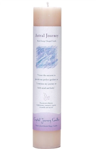 White Soy Astral Journey Ceremonial Pillar Candle
