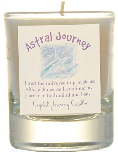 White Soy Astral Journey Ceremonial Votive Candle