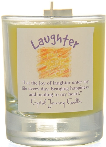 Yellow Soy Laughter Ceremonial Votive Candle