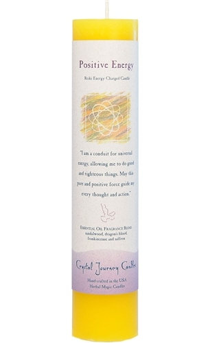 Yellow Soy Positive Energy Ceremonial Pillar Candle