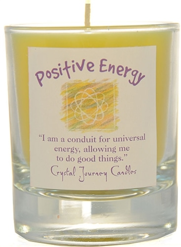 Yellow Soy Positive Energy Ceremonial Votive Candle